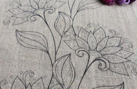 חדש: הדפס פרחוני מאורך על בד פשתן