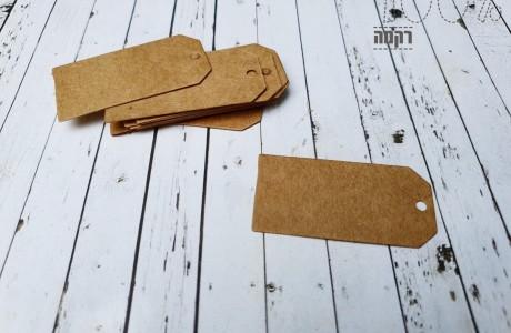 מארז תוויות נייר לחוטים- קראפט