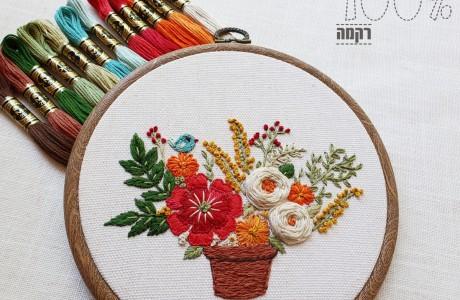 חדש: סידור פרחים וציפורת (לקוטר 16)
