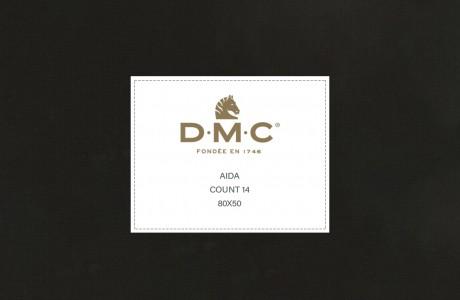 """בד AIDA שחור 57X50 ס""""מ DMC"""