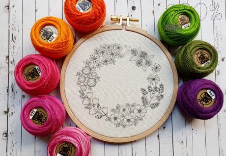 ריקוד פרחים- הדפס לרקמה