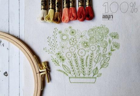 הדפס לרקמה- אדנית הפרחים