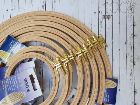 חישוקי רקמה מקצועיים מעץ