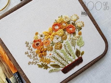 הדפס אדנית הפרחים במסגרת מרובעת
