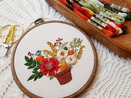 ההדפס סידור פרחים וציפורת