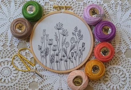 הדפס פרחים לרקמה