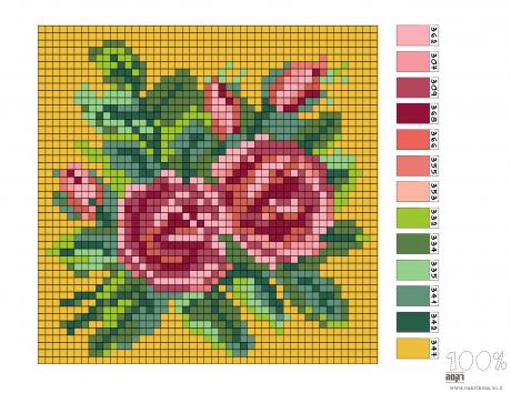 עיצוב לסטיצ'בורד- ורדים