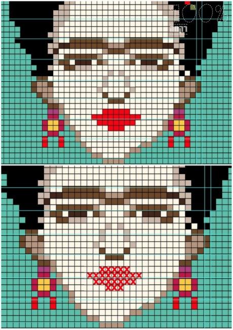 פרידה קאלו- מדוגמא לרקמה
